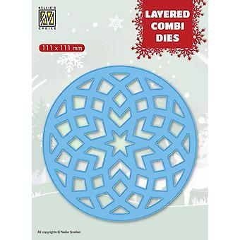 Nellie-apos;s Choice Layered Combi Die étoile ronde (Couche B) LCDRS002 111x111mm