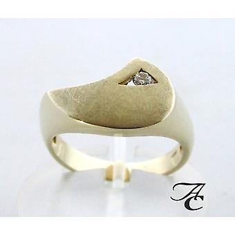 Yellow gold diamonds Atelier Christian ring