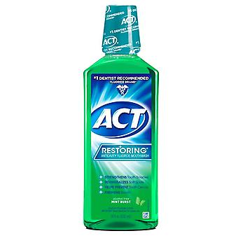 Act restoring anticavity fluoride mouthwash, mint burst, 18 oz