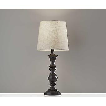 "11"" X 11"" X 25.5"" Black Polyresin 2 Pc Table Lamp Bonus Pack"