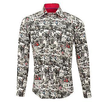 Клаудио Lugli Mod байкеров печати Мужская рубашка