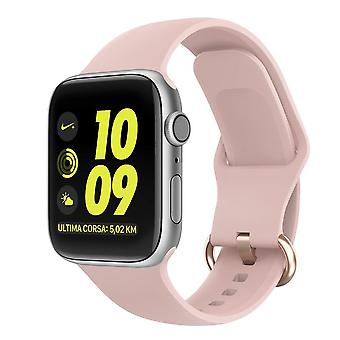 Apple Watch pulseira silicone 42/44 - bege rosa