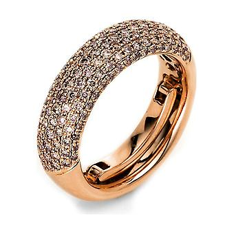 Diamond Ring Ring - 18K 750/- Red Gold - 1.09 ct. - 1L145R854 - Ring width: 54