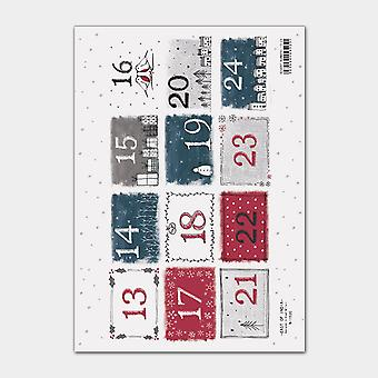 East Of India A4 Sitcker Sheet - Advent Numbers 13-24 (12)