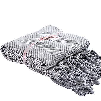 Pruhovaná pletená deka Bavlněná rekreační deka víceúčelová deka 120x180cm