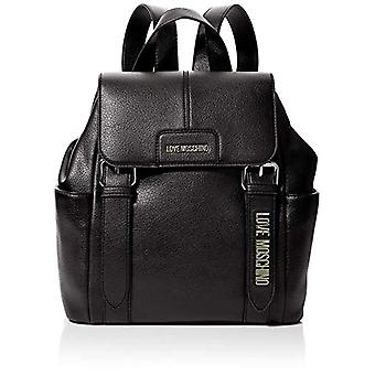 Liefde Moschino Bag Pebble Grain Pu Black Damesrugzak (Zwart) 30x32x12 cm (W x H x L)
