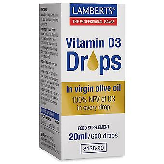 Lamberts Vitamin D3 Drops 20ml (8138-20)
