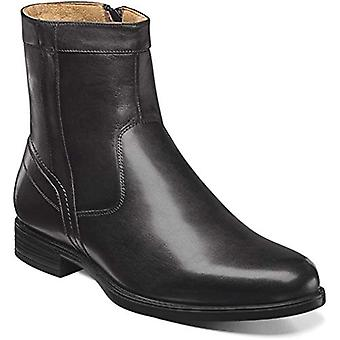 Florsheim Mens Midtown Zip Leather Closed Toe Mid-Calf Fashion Boots