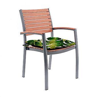 Gardenista Outdoor Garden Tuoli Istuinalusta vedenkestävä kangas Siteet - (Palm). Valmistettu Isossa-Britanniassa. Tuftatut tyynyt Collection