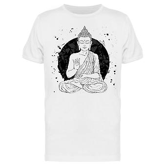 Lotus Monk, White And Black Tee Men's -Image by Shutterstock