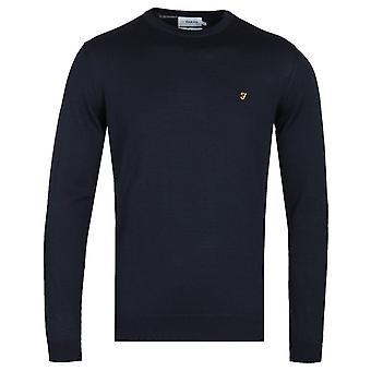 Farah Crew Neck Navy Woollen Sweater