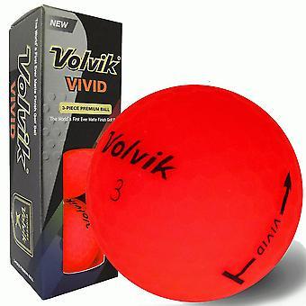 Volvik Vivid Golf ballen rode mouw van 3 ballen
