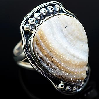 Desert Druzy Ring Size 6.5 (925 Sterling Silver)  - Handmade Boho Vintage Jewelry RING11757