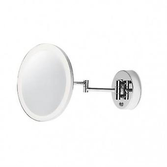 LED Bad Magnifying Adjustable Wall Light Chrome, Spiegel Ip44