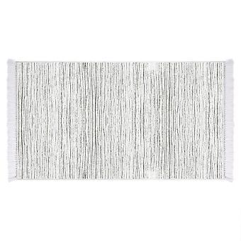 Holz 6 grau Farbe gedruckt Teppich in Micro Printed Polyam, L80xP150 cm