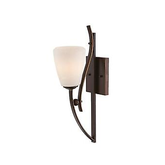 Chantilly Sconce, Palladian Bronze And Opal Glass, 1 Bulb