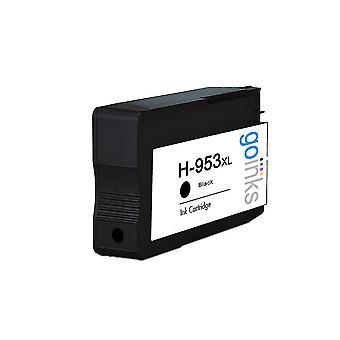 1 Go Mustien musta yhteensopiva tulostin mustekasetti korvata HP 953Bk (XL Kapasiteetti) Yhteensopiva / ei-OEM HP Officejet Tulostimet