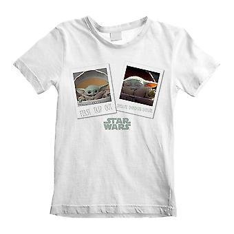 Children's The Mandalorian First Day Out White T-Shirt