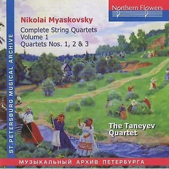 Taneyev Quartet - N. Miaskovsky - Complete String Quartets 1 [CD] USA import