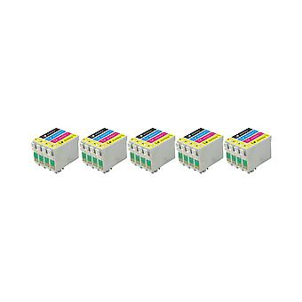 RudyTwos 5x Replacement for Epson Fox Ink Unit Black Cyan Yellow & Magenta (4 Pack) Compatible with S22, SX125, SX130, SX230, SX235W, SX420W, SX425W, SX430W, SX435W, SX438W, SX440W, SX445W, SX445WE, O