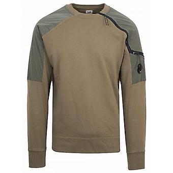 C.P. Company Khaki Zip Sweatshirt