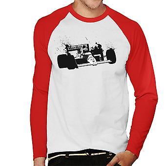 Motorsport Images Alain Prost McLaren MP45 Autodromo Nazionale Monza Men's Baseball Long Sleeved T-Shirt