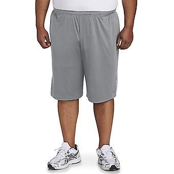 Essentials Men's Big & Tall 2-Pack Performance Shorts, Black/Medium Gr...