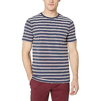 Goodthreads Men's Short-Sleeve Sueded Jersey Crewneck Pocket T-Shirt, Denim R...