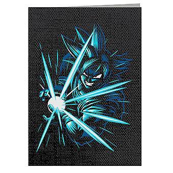 Blu Goku Kame Hame Dragon Ball - Biglietto d'auguri