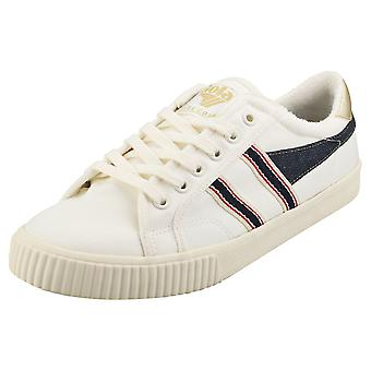 Gola Tennis Mark Cox Selvedge Mens Casual Trainers in Off White Navy