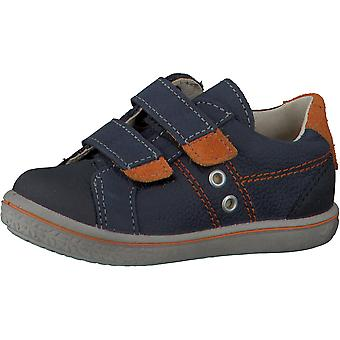 Ricosta nippy  navy and orange trainer shoes