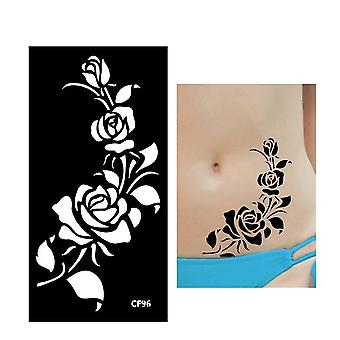 Henna Tattoo Stencil Pattern Paste Drawing Female Body Art