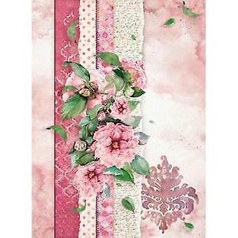 Rice Paper A4 Flowers For You Pink (DFSA4415)
