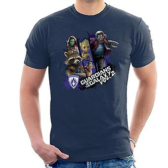Marvel Guardians Of The Galaxy Vol 2 Starry Character Montage Men's T-Shirt