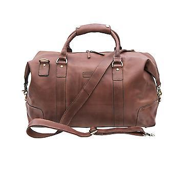 Primehide Mens Large Leather Weekend Travel Holdall Nuit Gym Duffle Bag 670