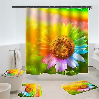 Portrait Pattern- Waterproof, Durable And 3d Printed Shower Curtains With Bath