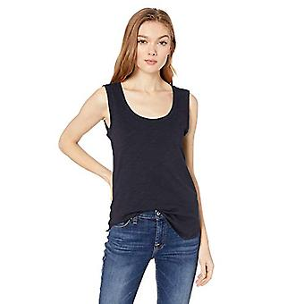 Brand - Daily Ritual Women's Lightweight Boede-I Bomuld Scoop Neck Muscle T-shirt, Navy, XX-Large