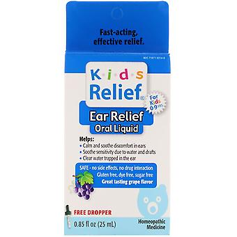 Homeolab USA, Kids Relief, Ear Relief Oral Liquid, For Kids 0-9 Yrs, Grape Flavo