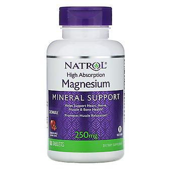 Natrol, High Absorption Magnesium, Cranberry Apple Natural Flavor, 250 mg, 60 Ta