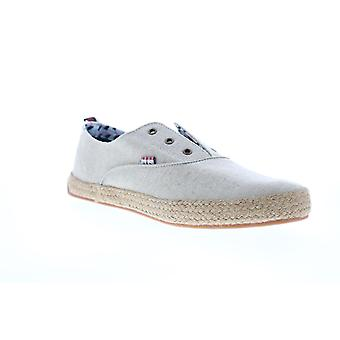 Ben Sherman Jenson Laceless Derby Mens Beige Tan Canvas Lifestyle Sneakers Shoes