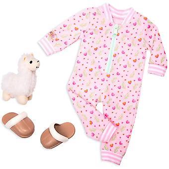 Notre génération 70.30388Z Llama Llullabies Toy Accessoires Outfit, pour une poupée de 18 pouces / 46 cm