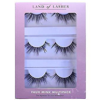 Land of Lashes Faux Mink False Eyelashes Multipack - Hanna Fake Lashes - 3 Pairs