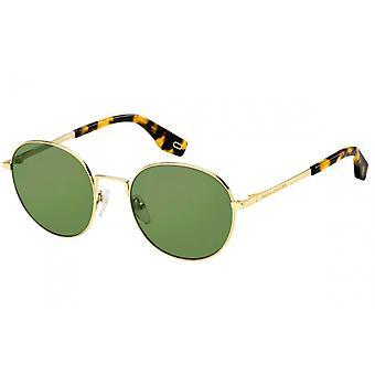 Sunglasses Men's round gold/green for men