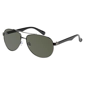 Sunglasses Unisex Grey with Green Lens (17-907 P)