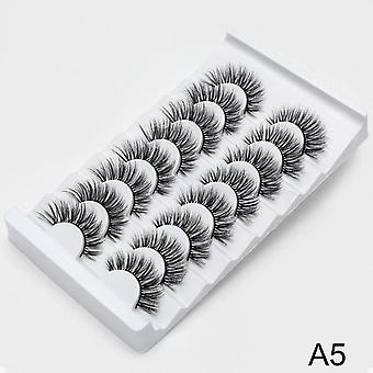 Natural 3d False Eyelashes - Makeup Lash Extension