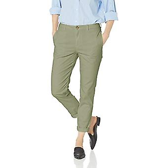 Brand - Daily Ritual Women's Girlfriend Chino, Dusty Olive, 14