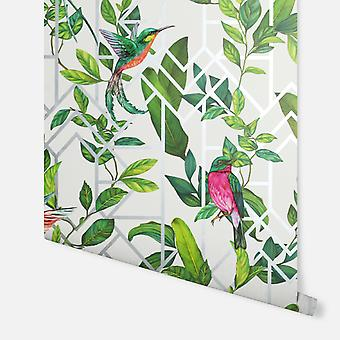 908004 - Deco Tropical White Wielobarwny - Arthouse Tapety