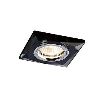 Wpuszczony downlight fazowane kwadratowe OBRĘCZE TYLKO czarny, wymaga 100035310, aby zakończyć element