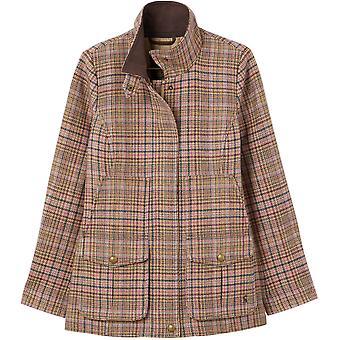 Joules Womens Fieldcoat Fitted Tweed Coat Jacket