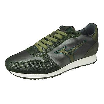Mizuno Saiph 3 Herren Leder Trainer / Schuhe - Olivgrün